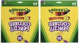 Crayola 50Ct Long Colored Pencils  Pack Of 2