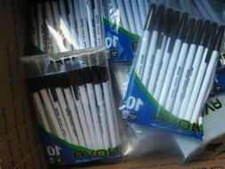 6 / 10 PACKS Bazic Nova BLACK Color Stick Pen / 60 PENS  FRE