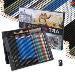 60 Colorful Pencils Art Set For Drawing Sketching Painting W