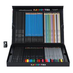 60pcs Professional Watercolor Colored Pencils SET Drawing Pa