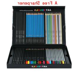 60PCS Watercolor Art Pencil Set Drawing Charcoal Colored Pen