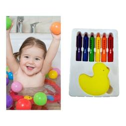 6Pcs Colored Crayon Paint Drawing Marker Pen Kids DIY Bathro