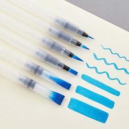 6pcs Water Color Brush Pen Soft Pencil For Watercolor Painti