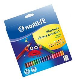 Pelikan 700122 Multi Colored pencils Triangular wooden penci