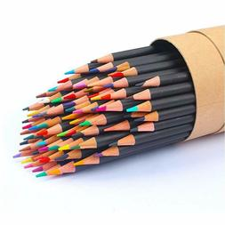 Soucolor 72-Color Colored Pencils, Soft Core, Art Coloring D