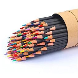 Soucolor 72-Color Colored Pencils, Soft Core, Art Coloring D