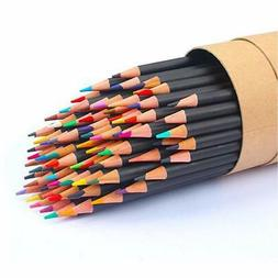 72-Color Colored Pencils Soft Core Art Coloring Drawing Penc