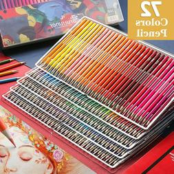 72 Color Professional Oil Pencil Artist Painting Drawing Ske
