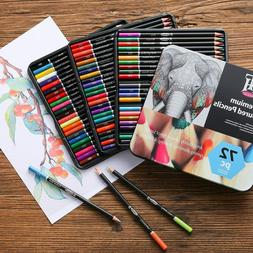 72 Premium Colored Pencil Set for Adult coloring Book Soft C