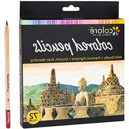 Colore Colored Pencils 72 Premium Pre-Sharpened Color Pencil