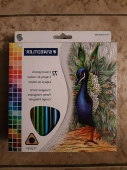 Staedtler 72 Triangular Colored Pencils Set 1270C72A6 2.9mm