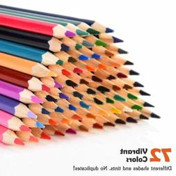 72Color Premium Colored Pencil Set for Drawing Sketching Art