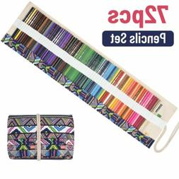 72 Colors Professional Art Drawing Pencils Kit Painting Penc