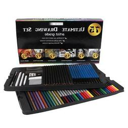 75pcs Professional Sketching Drawing kit Colored Pencil Art