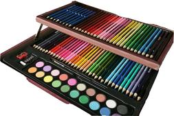 91Wooden Box Kit Colored Pencils Sketching Pencils Water Col