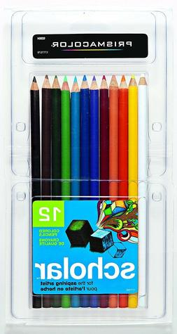 Prismacolor 92804 Scholar Colored Pencils, 12-Count FACTORY