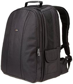 AmazonBasics DSLR and Laptop Backpack - Orange interior