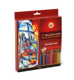 Coloured pencils POLYCOLOR KOH-I-NOOR 72 colours 3837 IN CAR