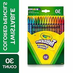 Crayola 68-7409 Twistable Colored Pencils, 30 Count, Stockin