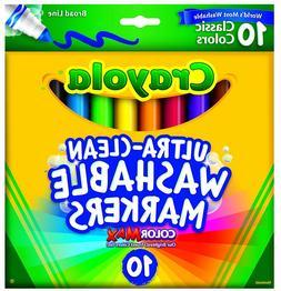 Crayola Ultraclean Broadline Classic Color Max Washable Mark