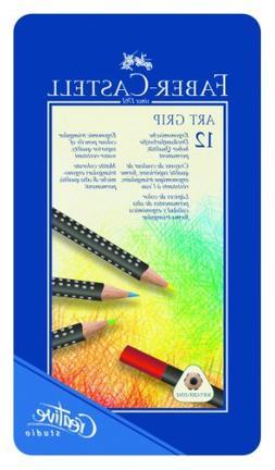 Faber Castell Art GRIP Color Pencils, Tin of 12