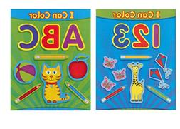 "Paper Craft Coloring Books for Kids, ""ABC and 123, I Can Col"