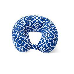 World's Best Feather Soft Microfiber Neck Pillow, Cobalt Blu