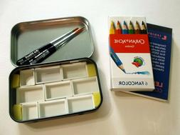 ALTOID Style Watercolor Travel Tin w Da Vinci Travel Brush C