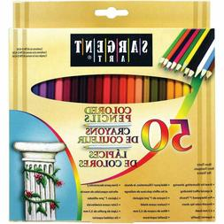 Art Coloring Pencil Set 50-Count 3.3 mm Smooth Color Assorte