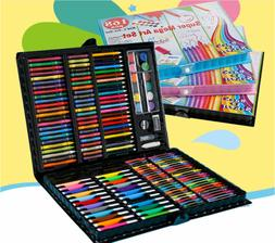 Kids 168 Colors Art set Drawing Fun Painting Play Deluxe Cas