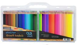 Artist Colored Pencils Set of 50 pc Great for Adult Coloring