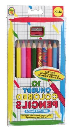 ALEX Toys Artist Studio 10 Chubby Colored Pencils