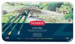 Derwent Artists Colored Pencils, 4mm Core, Metal Tin, 72 Cou