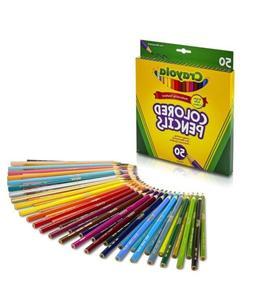 Assorted Colored Set Pencils Pencil Colors Color 50 Count Cr