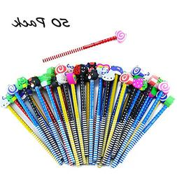 Etmact 50 Pack Assorted Colorful Cartoon Animal Pencil With