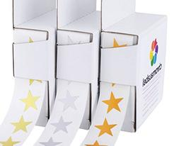"3/4"" Assorted Metallic Star Stickers Variety Kit  - 1,000 Sh"