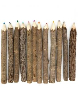 Assorted Stick Twig Colored Outdoor Wooden Pencils Tree Chil