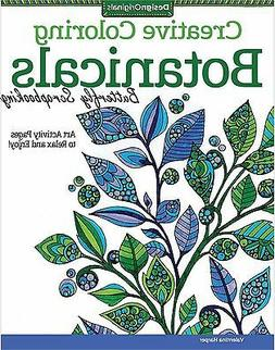 BOTANICALS Coloring Book For Markers & Colored Pencils Desig
