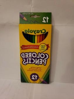 BRAND NEW 12 Nontoxic Crayola Pre-Sharpened Colored Pencils