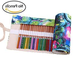 Kaariss Canvas Pencil Wrap, Travel Drawing Coloring Pencil R