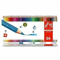 Caran D'Ache Fancolor Color Pencils 40 Color Assortment