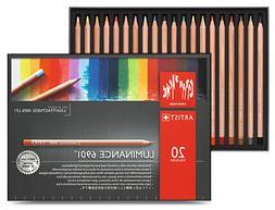 Caran D'ache Luminance Permanent Coloured Pencil 20 Colour B