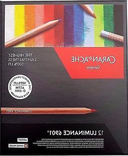 Caran D'ache Luminance Permanent Coloured Pencil 12 Colour B