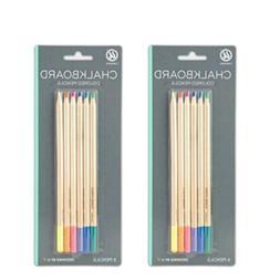U Brands Chalkboard Colored Pencils, Assorted Colors, 6-Coun