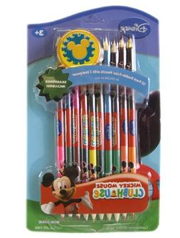 Disney Clubhouse Mickey Mouse Color Pencil Set with Sharpene