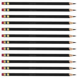 Prismacolor Col-Erase Erasable Colored Pencil BLACK Set/12