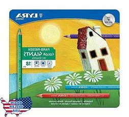 LYRA Color-Giants Lacquered Colored Pencils, 6.25mm Cores, S