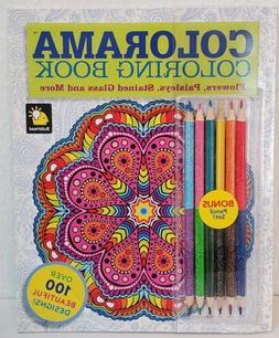 Colorama Coloring Book & 12 Colored Pencils Homeschool Learn