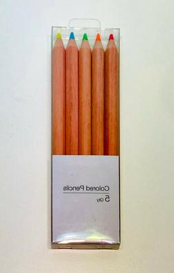 COLORED CHUNKY WOODEN PENCIL SET  for Kid Child Back to Scho