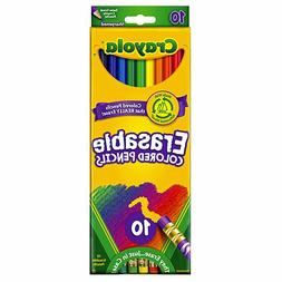 Crayola Colored Erasable Pencils Crayons Rubber Eraser Ends